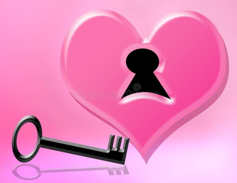Chave a meu coração ilustração royalty free