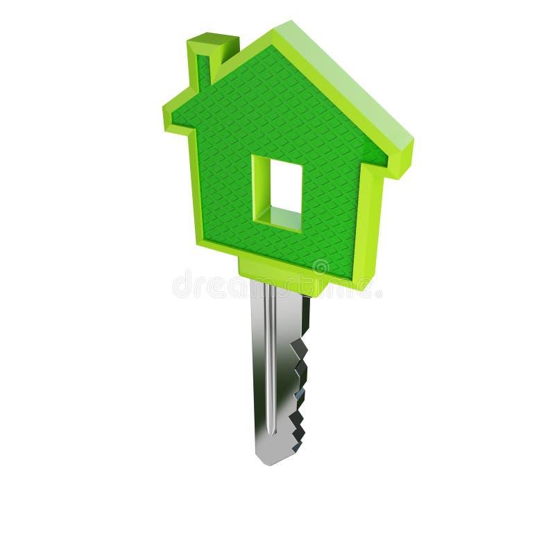 Chave verde isolada 02 da casa do eco ilustração do vetor