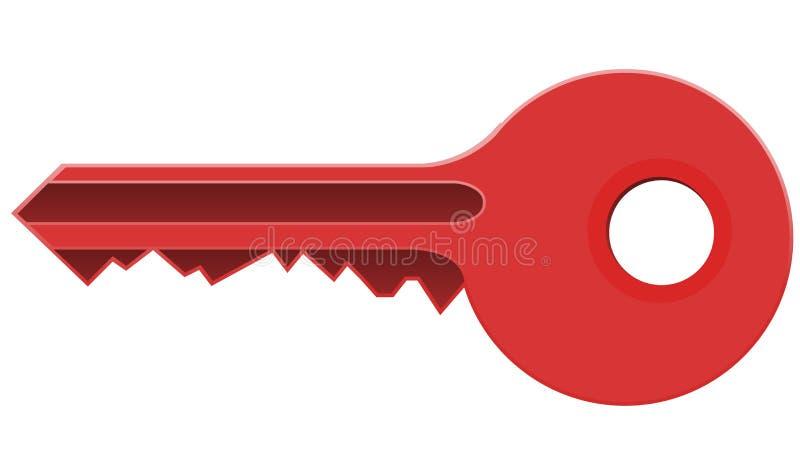 Chave vermelha ilustração do vetor