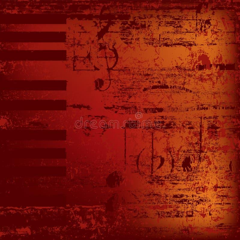 Chaves abstratas do piano do fundo ilustração royalty free