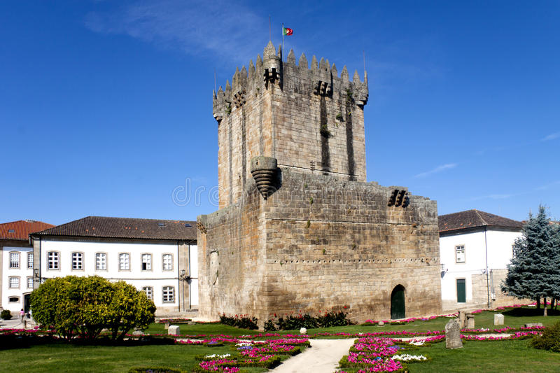 Chaves Castle. In the north of Portugal royalty free stock image