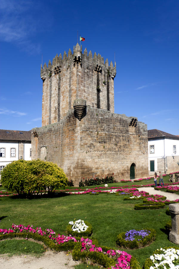 Chaves Castle. In the north of Portugal royalty free stock photos