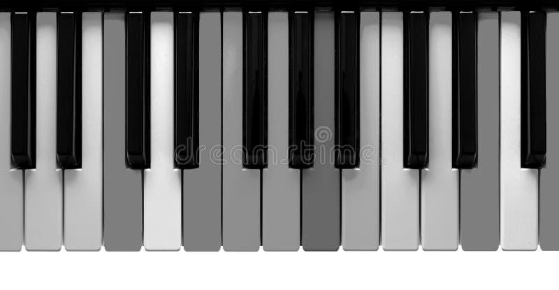 Chaves cinzentas do piano foto de stock