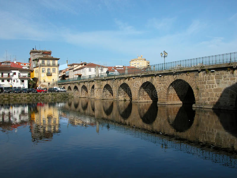 Chaves city. Beautiful city - Chaves city - Portugal - Europe stock image