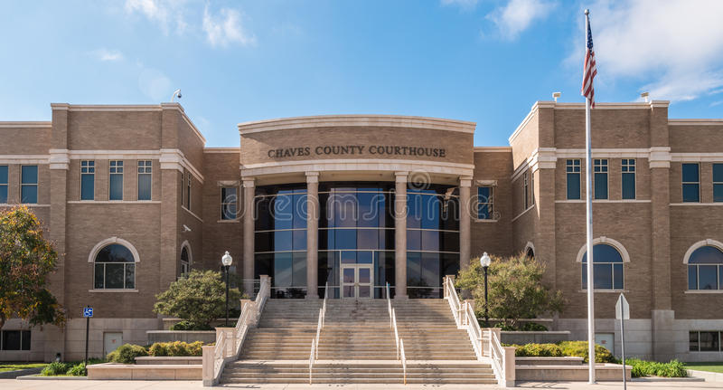 Chaves County Courthouse. The entrance to the Chaves County Courthouse in Roswell, New Mexico stock images
