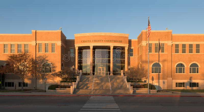 Chaves County Courthouse royaltyfri foto