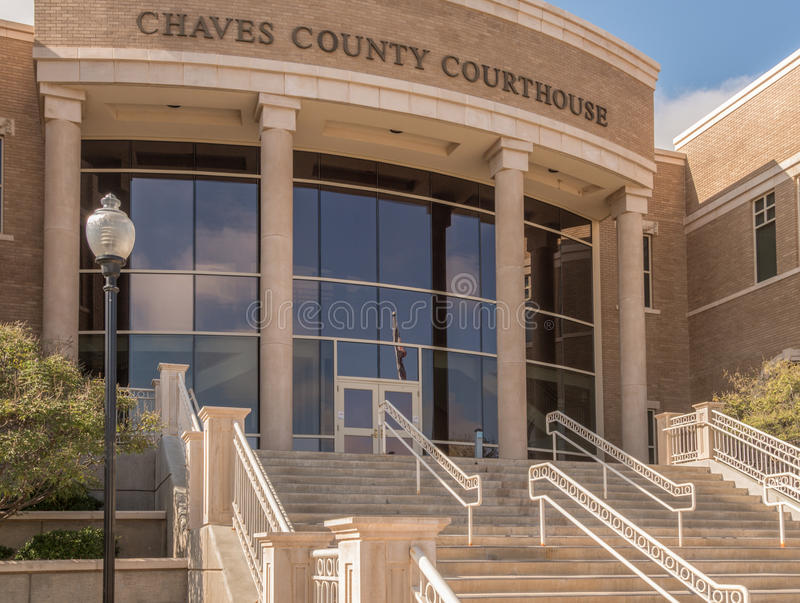 Chaves County Courthouse in Roswell New Mexico. The entrance to the Chaves County Courthouse in Roswell New Mexico royalty free stock images