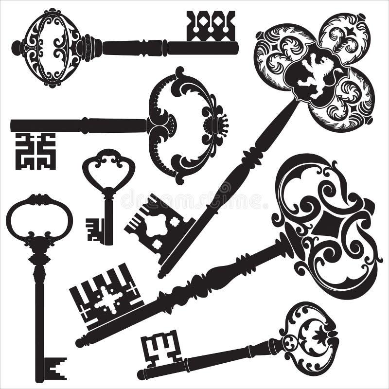 Chaves da antiguidade ilustração do vetor