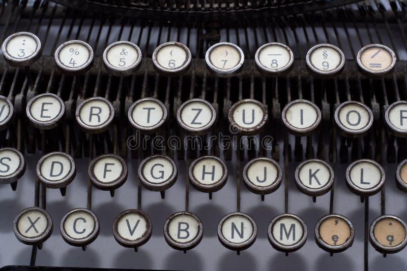 Chaves da máquina de escrever do vintage fotos de stock royalty free