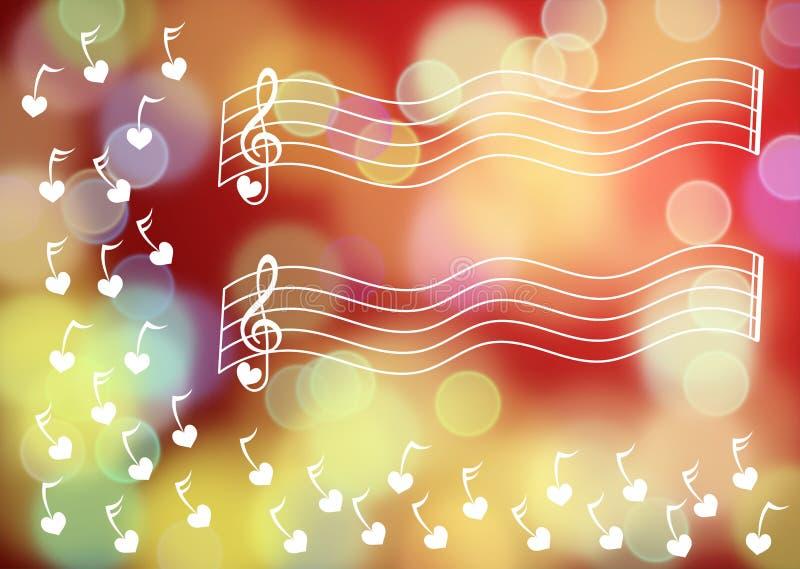 Chaves da música que flutuam o fundo borrado fotos de stock royalty free