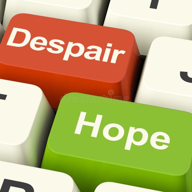 Chaves de computador do desespero ou da esperança ilustração royalty free