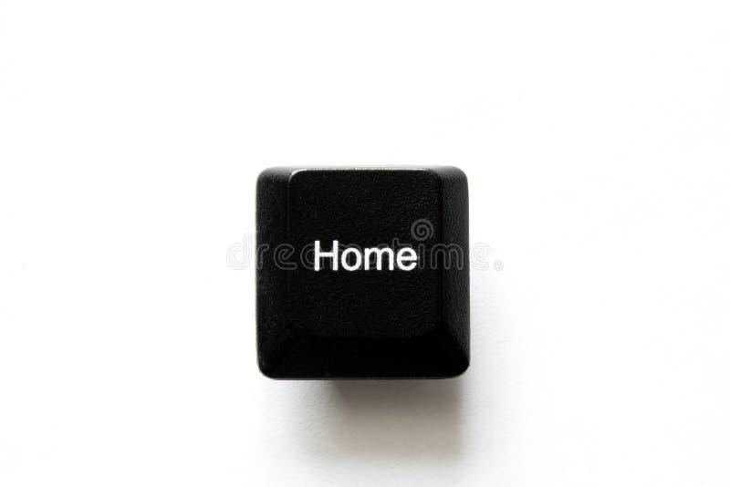 Chaves de teclado do computador, casa foto de stock