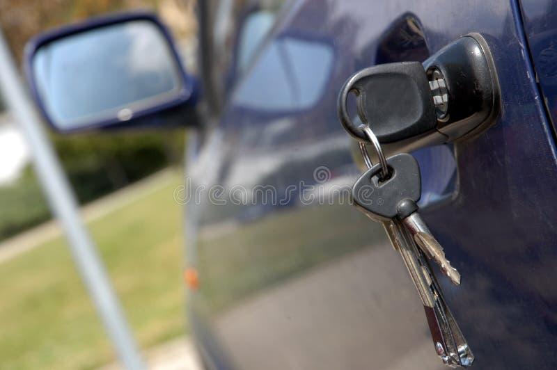 Chaves do carro fotografia de stock
