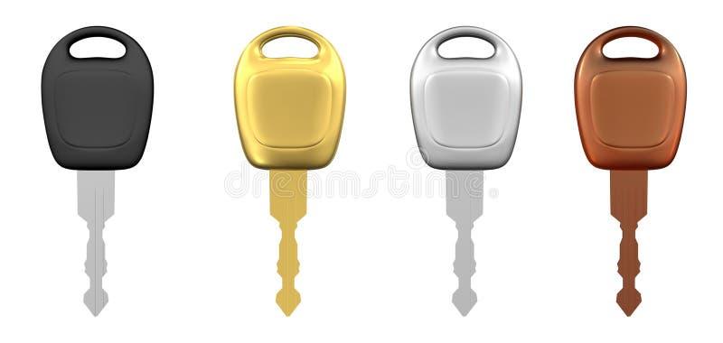 Download Chaves Do Carro De Metal Isoladas Ilustração Stock - Ilustração de chave, sinal: 10051483