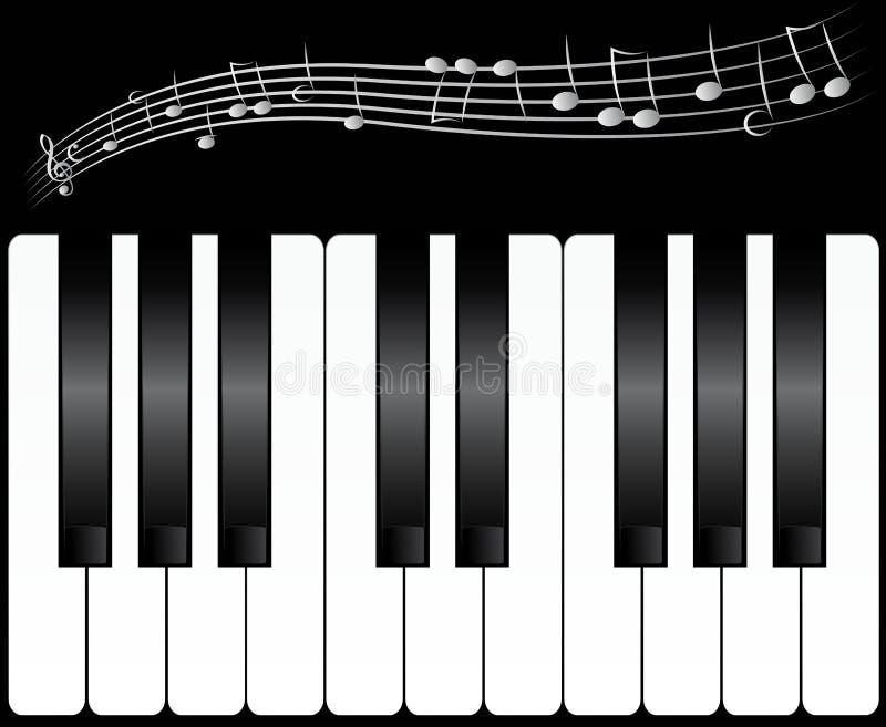 Download Chaves do piano ilustração do vetor. Ilustração de branco - 16850154