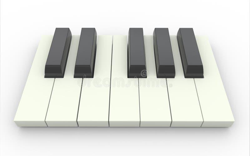 chaves do piano 3d ilustração do vetor