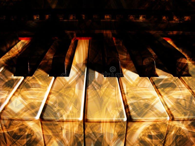Chaves do piano ilustração stock