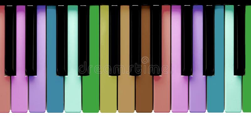 Chaves do piano do arco-íris foto de stock
