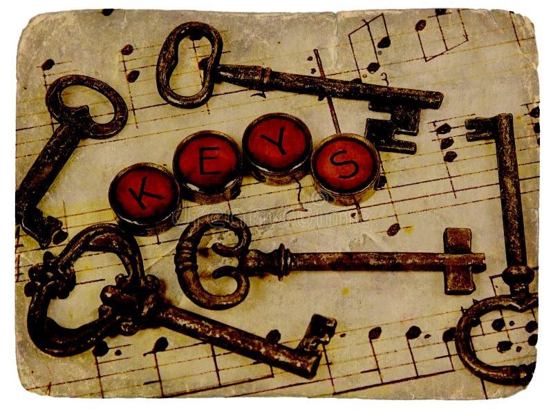Chaves do vintage fotos de stock