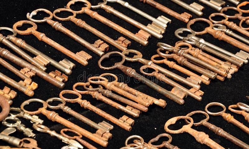 Chaves do vintage fotografia de stock