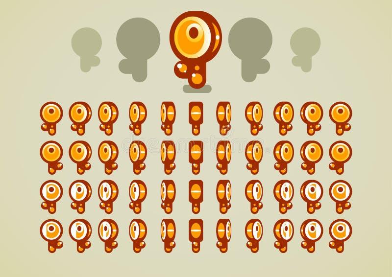 Chaves douradas animados ilustração do vetor
