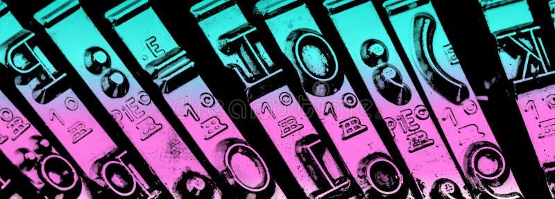 Chaves em uma máquina de escrever imagens de stock