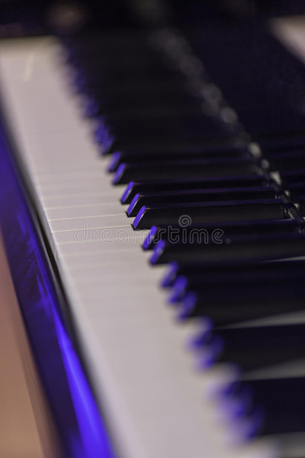 Chaves macro do piano fotografia de stock