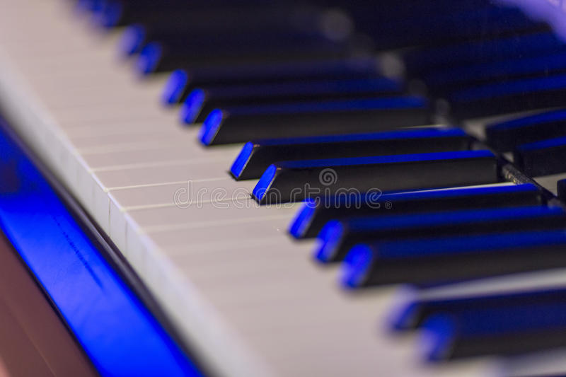 Chaves macro do piano imagem de stock royalty free