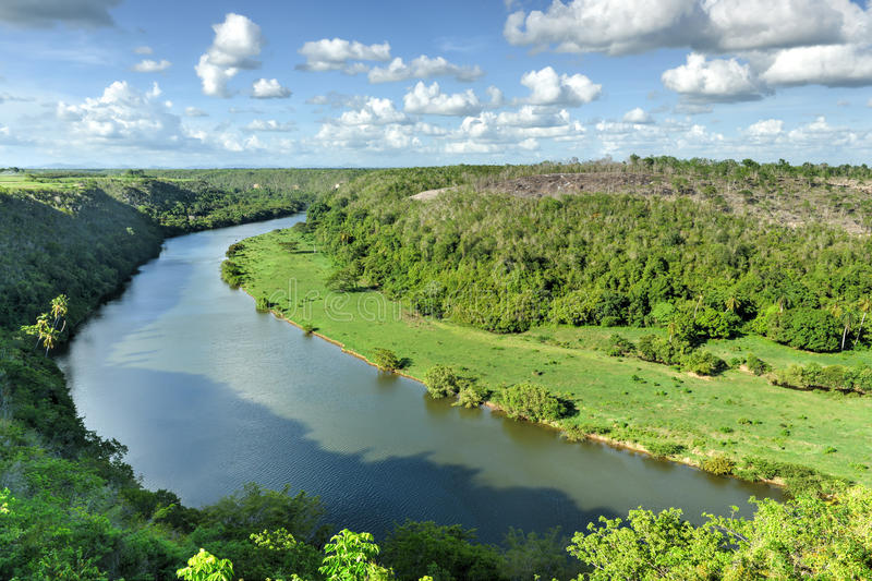 Chavon River, Dominican Republic stock photography