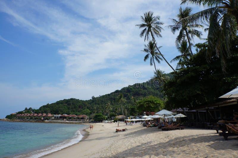 Chaweng strand, Koh Samui ö, Thailand royaltyfri foto