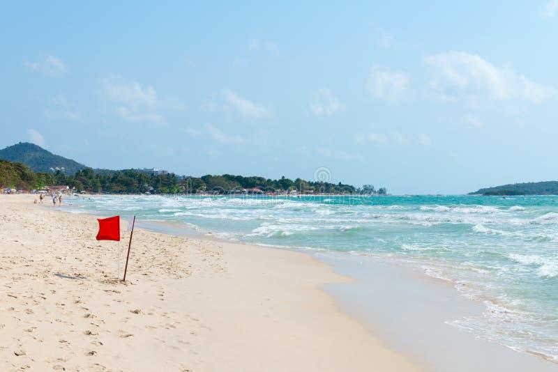 Chaweng strand på den Samui ön, Thailand fotografering för bildbyråer
