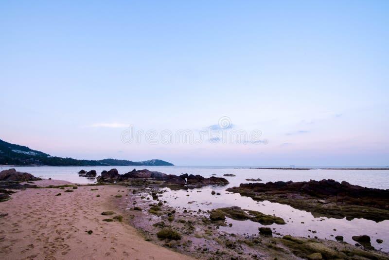Chaweng strand på Samui i Thailand royaltyfri foto