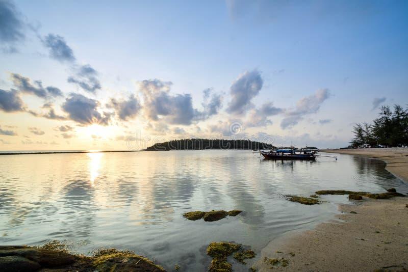 Chaweng strand på Samui i Thailand royaltyfria foton