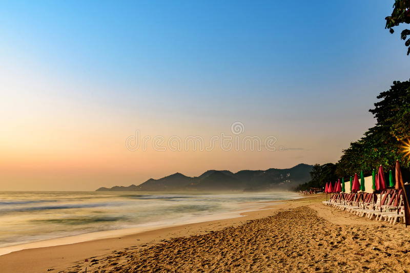 ChawengBeach seaside landscape in Samui Island, southern of Thailand royalty free stock photos