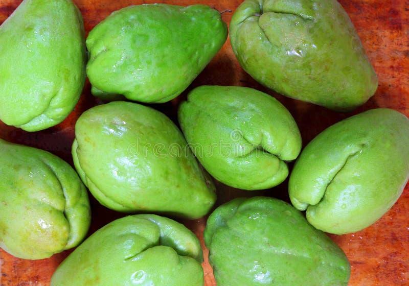 Chayote de groente van de mangopompoen mirliton royalty-vrije stock afbeeldingen