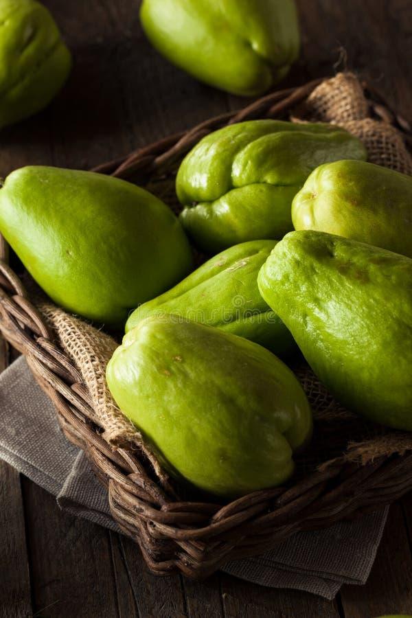 Chayote orgânico verde cru fotos de stock royalty free