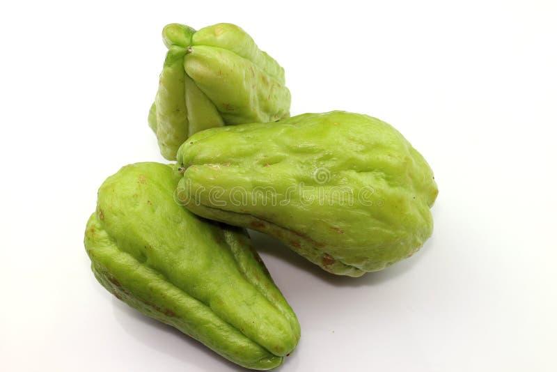 Chayote zoete groente stock foto's