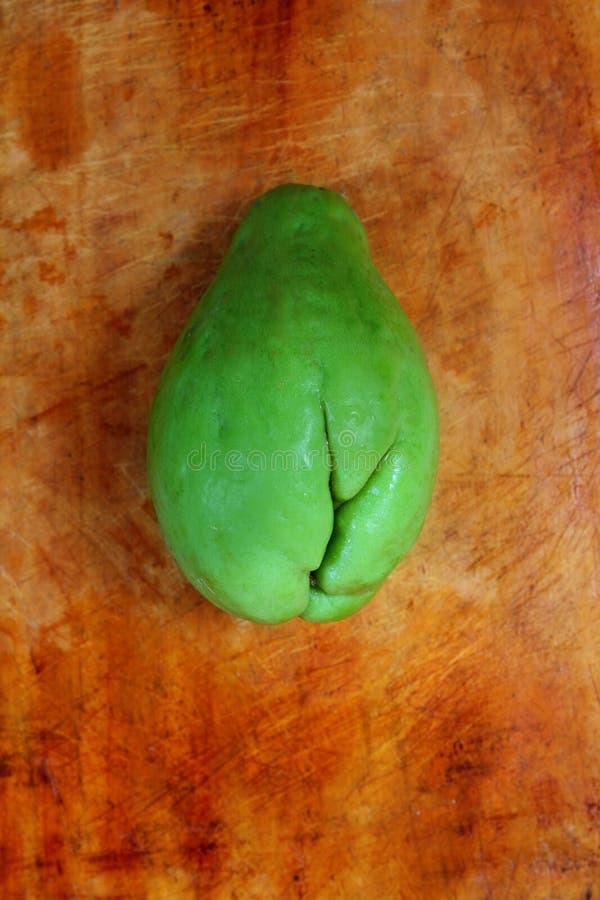 Chayotemangofruchtkürbis mirliton Gemüse lizenzfreie stockfotos