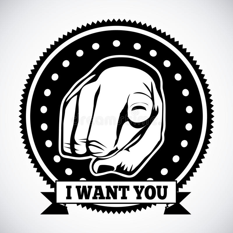 Chcę ciebie ilustracja wektor