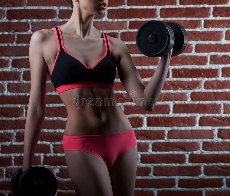 Chce trening Cropped strzał sprawności fizycznej kobieta zdjęcie stock