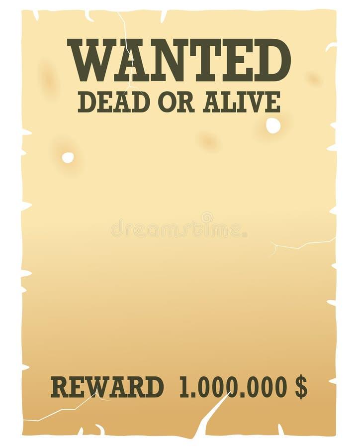 chcieć żywy nieżywy plakat royalty ilustracja