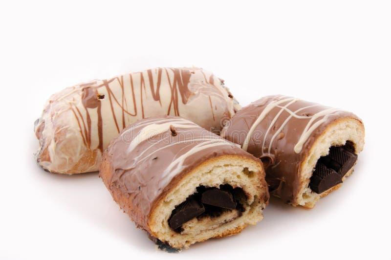 chcocolate croissant fotografia stock