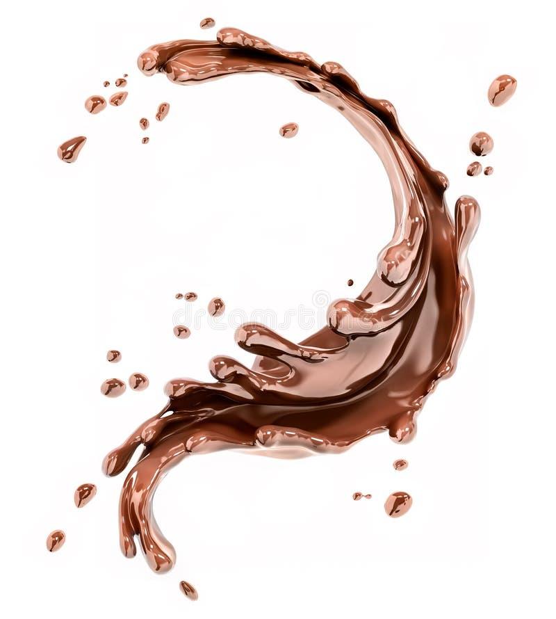 Che?botania czekoladowy abstrakcjonistyczny t?o, 3d rendering ilustracja wektor