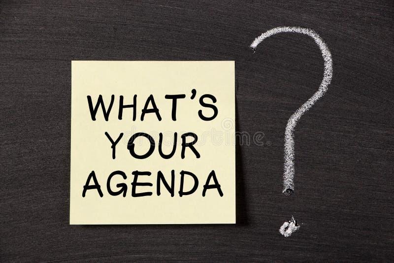Che cosa è il vostro ordine del giorno? immagine stock