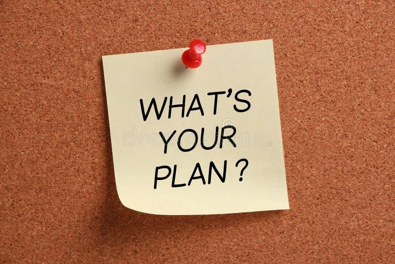 Che cosa è il vostro piano? fotografie stock libere da diritti