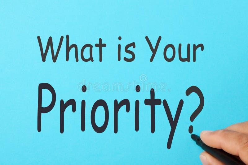 Che cosa è la vostra domanda di priorità immagini stock