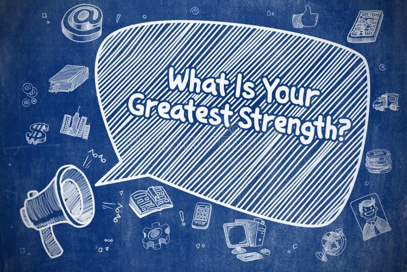 Che cosa è la vostra più grande forza - concetto di affari illustrazione vettoriale
