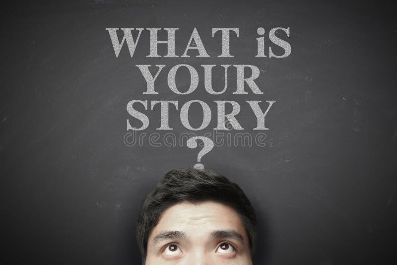 Che cosa è la vostra storia immagine stock