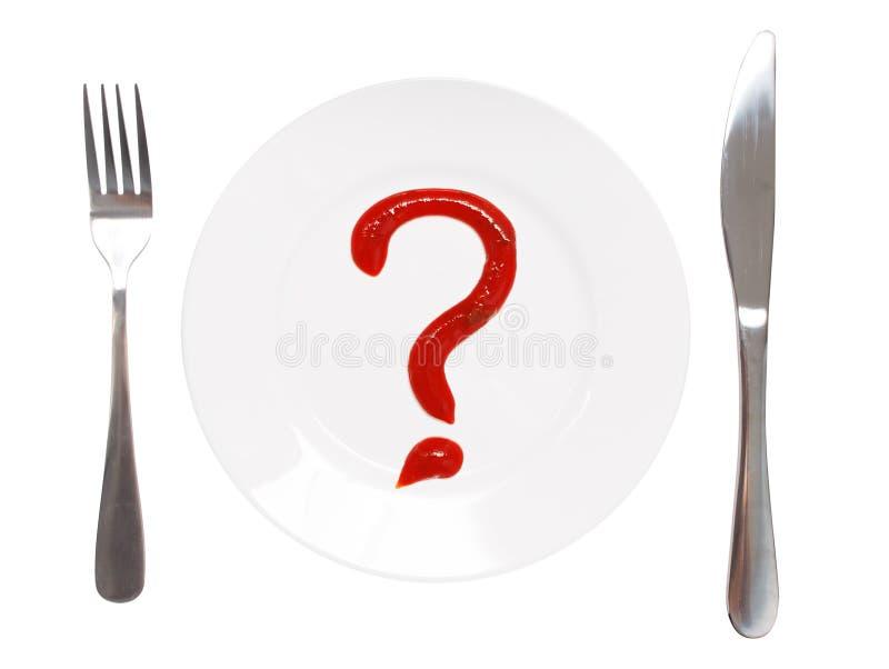 Che cosa da mangiare? fotografia stock libera da diritti