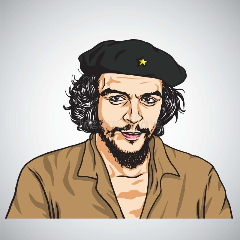 che Ernesto guevara De Cuba pesos republica tres Wektorowa portret ilustracja Listopad 1, 2017